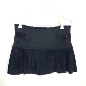 Wilsons Leather Suede Pleated Mini Skirt